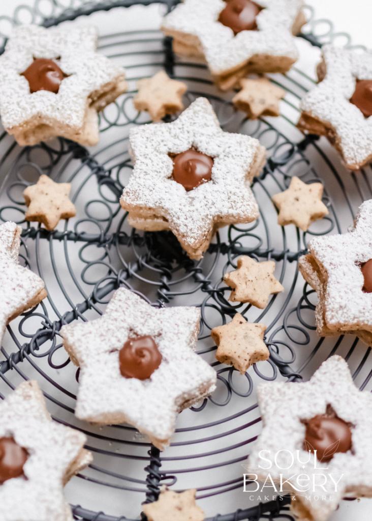Plätzchen, Plätzchen Rezept, Nuss Nougat Sterne, Nuss Nougat Plätzchen, Weihnachtsplätzchen, Nuss Nugat Plätzchen