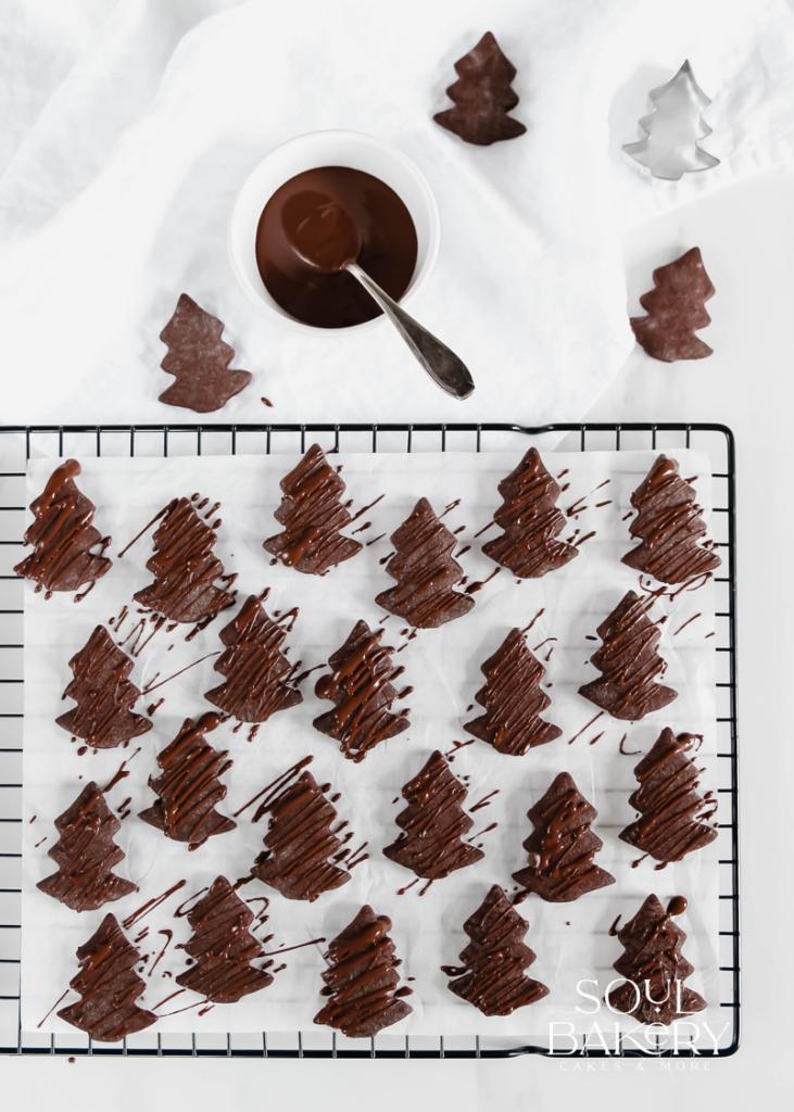 Schokoladenplätzchen, Schokokekse, Weihnachtsplätzchen, Plätzchen, Plätzchen mit Schokolade